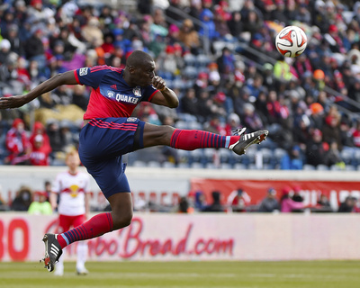 Mar 23, 2014 – MLS: New York Red Bulls vs Chicago Fire – Bakary Soumare Photo by Mike Dinovo