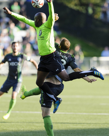 2014 MLS U.S. Open Cup: Jun 18, PSA Elite vs Seattle Sounders - Cam Weaver, Erlys Garcia Baro Photo by Steven Bisig