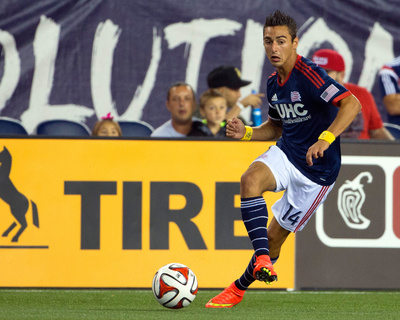 Sep 7, 2014 - MLS: Chicago Fire vs New England Revolution - Diego Fagundez Photo by Winslow Townson