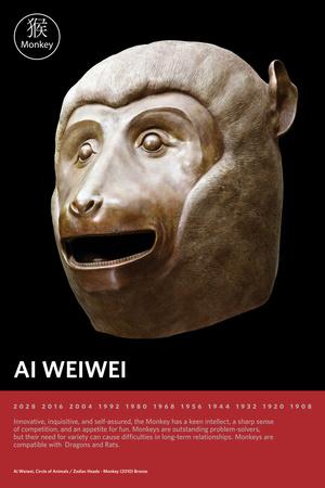 Zodiac Heads: Monkey Photo by Ai Weiwei