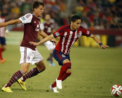 Jul 25, 2014 - MLS: Chivas USA vs Colorado Rapids - Eric Avila Photo by Chris Humphreys