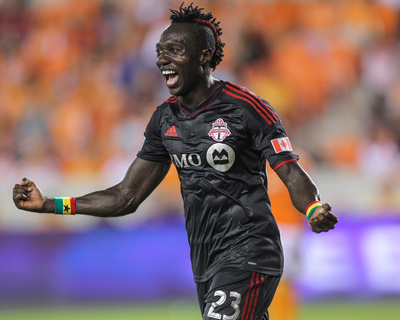 Jul 19, 2014 - MLS: Toronto FC vs Houston Dynamo - Dominic Oduro Photo by Troy Taormina