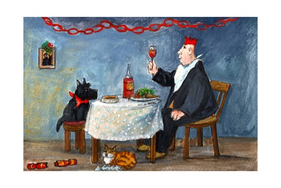 Celebrating Christmas Giclee Print by Margaret Loxton