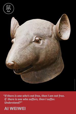 Zodiac Heads: Quote Rat Photo by Ai Weiwei