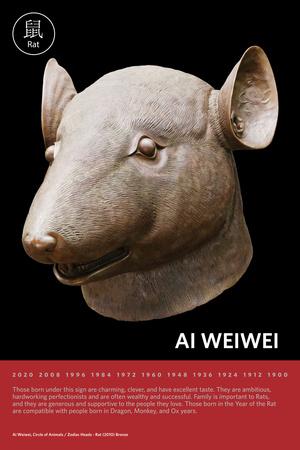 Zodiac Heads: Rat Photo by Ai Weiwei