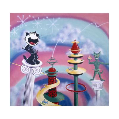 Felix the Cat Kenny Scharf art poster