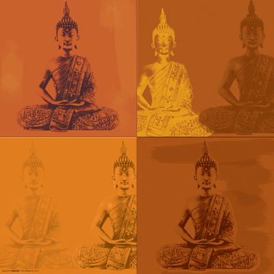 Buddha Quad - Orange Art
