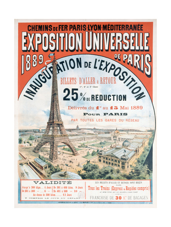 Opening Ceremony for the 1889 World Fair Giclee Print