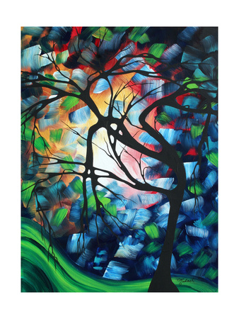 Colorful Tree Maze Poster by Megan Aroon Duncanson
