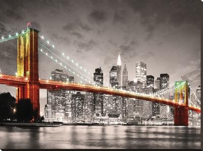 New York City Brooklyn Bridge Stretched Canvas Print
