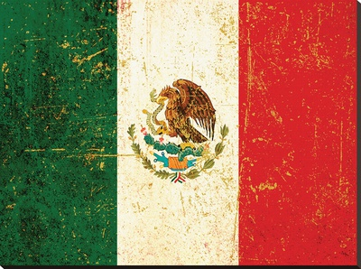 Flag of Mexico Stretched Canvas Print