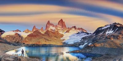 Argentina, Patagonia, El Chalten, Los Glaciares National Park, Cerro Fitzroy Peak Photographic Print by Michele Falzone