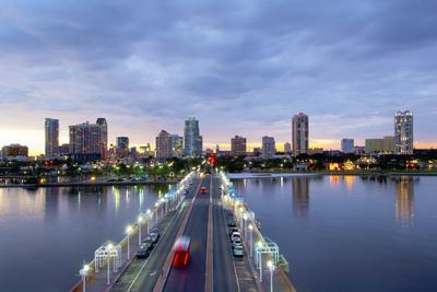 Florida, Saint Petersburg, Skyline, Tampa Bay, Pier, Pinellas County Photographic Print by John Coletti
