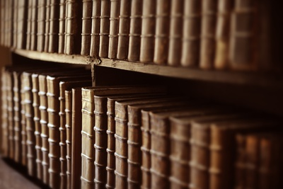 A Rare Collection of Early Printed Books at Merton College Library Fotoprint av Jim Richardson