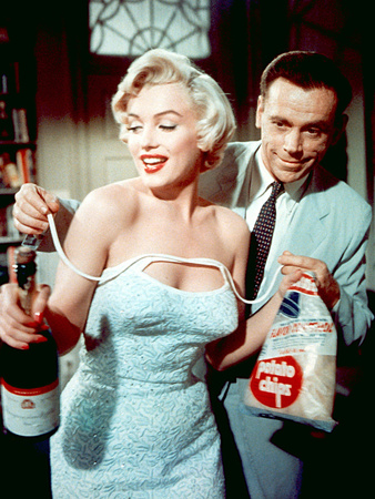The Seven Year Itch by Billy Wilder with Marilyn Monroe and Tom Ewell, 1955 Photo