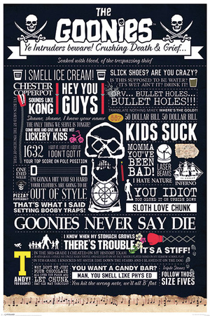 The Goonies - Typographic Photo