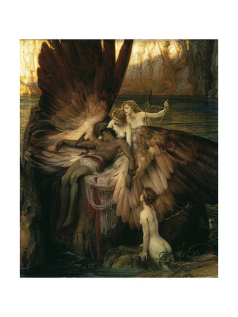 The Lament for Icarus Giclee Print by Herbert Draper