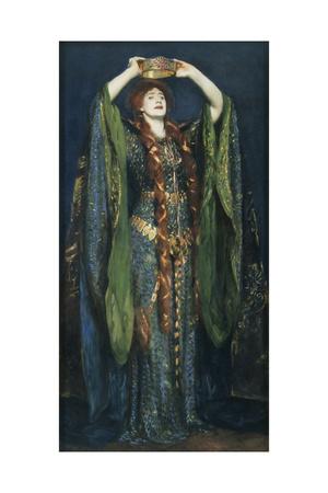 Ellen Terry as Lady Macbeth Giclee Print by John Singer Sargent