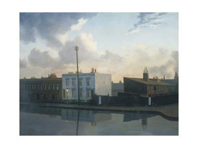 The Surrey Canal, Camberwell Gicléetryck av Algernon Newton