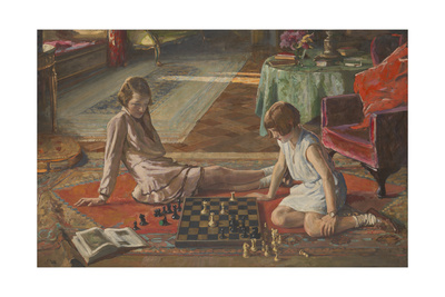 The Chess Players Giclee Print by Sir John Lavery