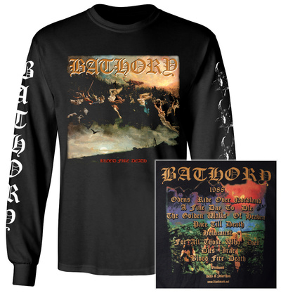 Long Sleeve: Bathory - Blood Fire Death Album Tracks (Front/Back) Long Sleeves