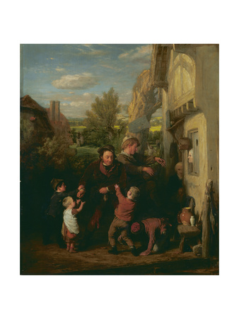 Fair Time ('Returning from the Ale-House') Giclee Print by William Mulready