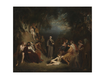 Homer Reciting His Poems Giclee Print by Thomas Lawrence