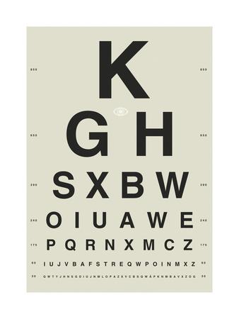 Sight Test White Giclee Print