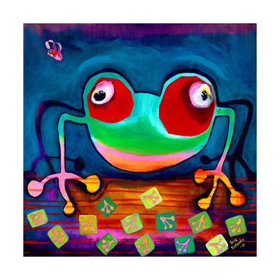 The Frog Jumps Giclee Print by Susse Volander