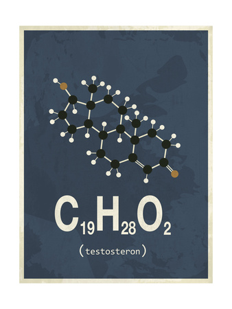 Molecule Testosterone Giclee Print