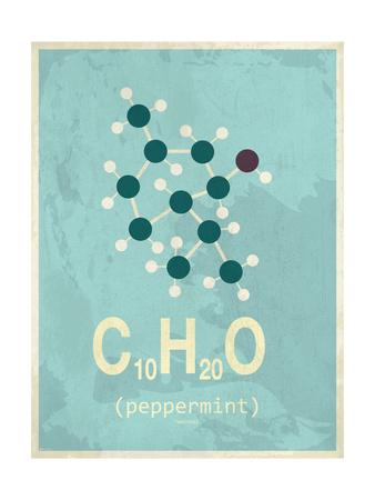 Molecule Peppermint Giclée-tryk
