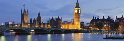 Big Ben and the Houses of Parliamentand Westminster Bridge over the River Thames, London, England Photographic Print by Markus Lange