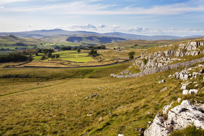 Ribblesdale and Ingleborough from Above Langcliffe Near Settle, Yorkshire, England Photographic Print by Mark Sunderland