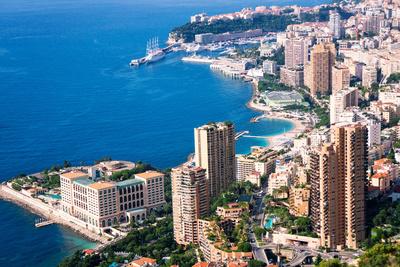 High Angle View, Monaco, Cote D'Azur, Mediterranean, Europe Photographic Print by Peter Groenendijk