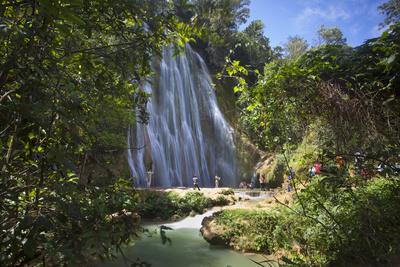 El Limon Waterfall, Eastern Peninsula De Samana, Dominican Republic, West Indies, Caribbean Photographic Print by Jane Sweeney