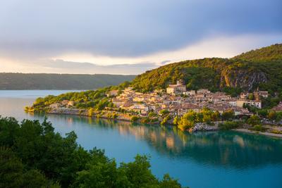 Bauduen Village, Lac De Sainte-Croix, Gorges Du Verdon, France, Europe Photographic Print by Peter Groenendijk