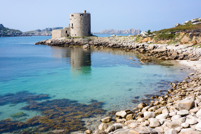 Cromwell's Castle, Isle of Tresco, Isles of Scilly, United Kingdom, Europe Photographic Print by Peter Groenendijk