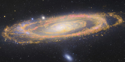 Infrared Image Of The Andromeda Galaxy Photographic Print