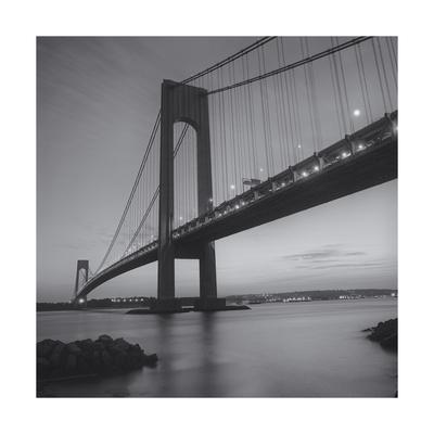 Verrazano Bridge, New York City at Night Photographic Print by Henri Silberman