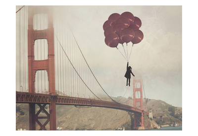 Golden Gate Ballons Posters by Ashley Davis