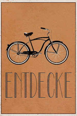ENTDECKE (German -  Explore) Prints