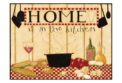Home Is In The Kitchen 2 Prints by Dan Dipaolo