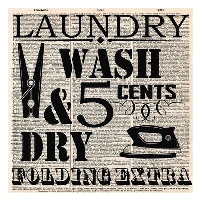 Dictonary Laundry Prints by Taylor Greene