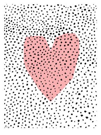 Dotty Heart Art by Paula Mills