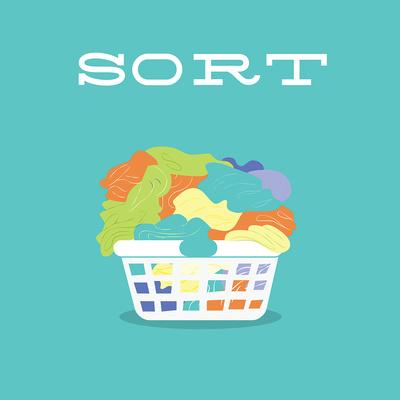 Laundry Sort Print by Tiffany Everett