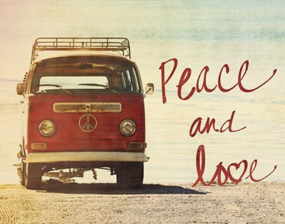 Peace and Love Prints by Gail Peck