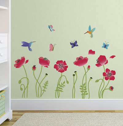 Radiant Poppies Wall Decal