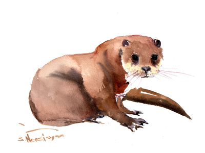 Otter Prints by Suren Nersisyan