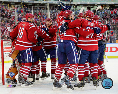 The Washington Capitals Celebrate Winning the 2015 NHL Winter Classic Photo