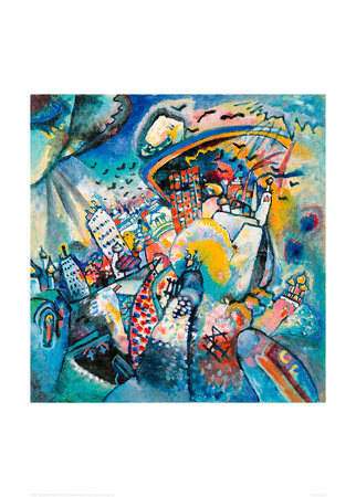 Red Square in Moscow, 1916 Giclee Print by Wassily Kandinsky